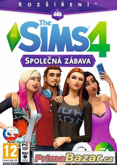 THE SIMS 4 : SPOLEČNÁ ZÁBAVA - ČESKÉ TITULKY - NOVÁ - PC DVD