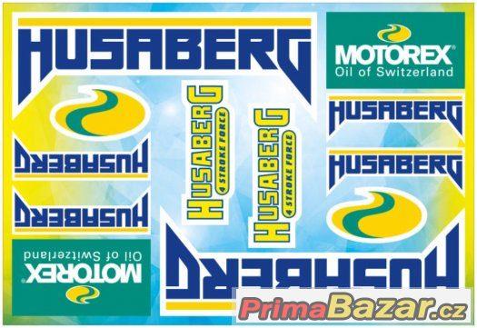 Prodám polepy značky HUSABERG/MOTOREX.