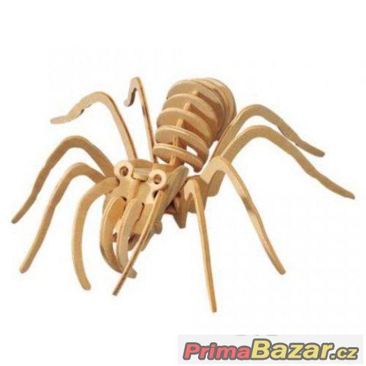 Dřevěné 3D puzzle dřevěná skládačka hmyz - Tarantule