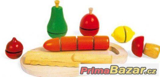 Zelenina ke krájení - dřevěná hračka