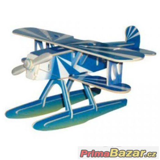 Dřevěné skládačky 3D puzzle letadla - Heinkel HE-51