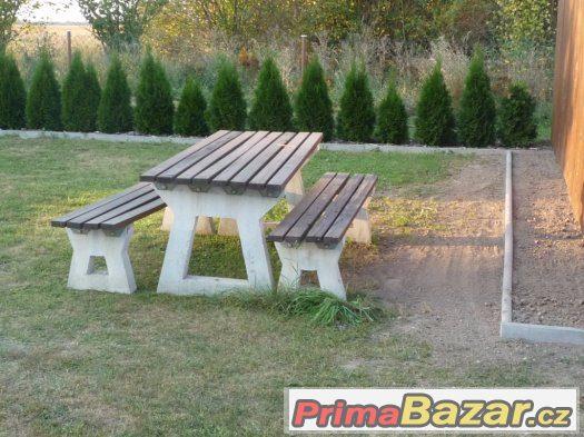 Lavice,stůl,zahradní nábytek