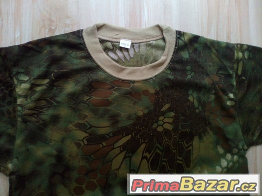 Maskované triko Zelené