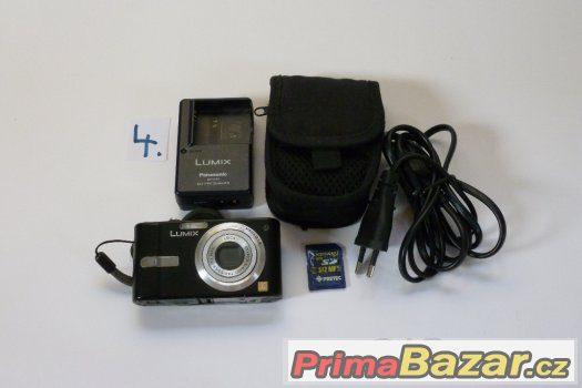 Fotoaparát Panasonic DMC-FX10EG-K, 6MB, 3x zoom+karta+pouzdr