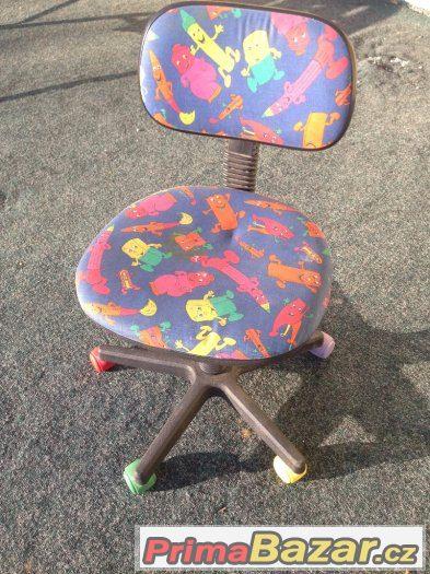 Dětská kolečková židle