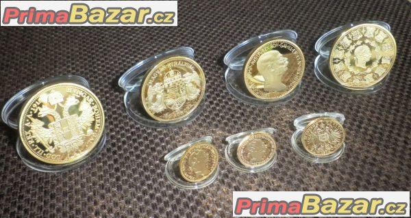 FJI zlaté mince kopie Franz Josef nejlepší dárek RU