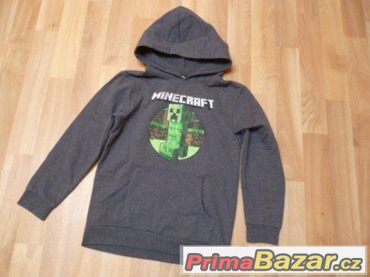 Parádní mikina Minecraft vel. 7-8 let