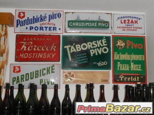 Koupím staré lahve od piva s litými nápisy