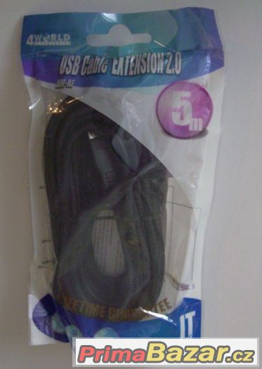 Prodlužovací USB kabel, A-A, 5 metrů, nerozbalený