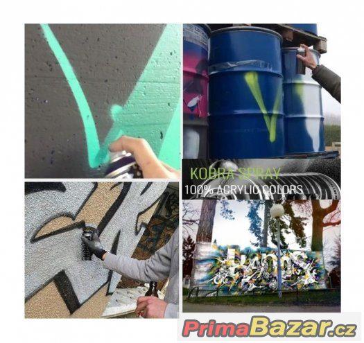 Akrylické spreje Kobra HP 400ml, NOVÉ