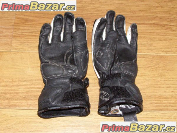 Kožené moto rukavice