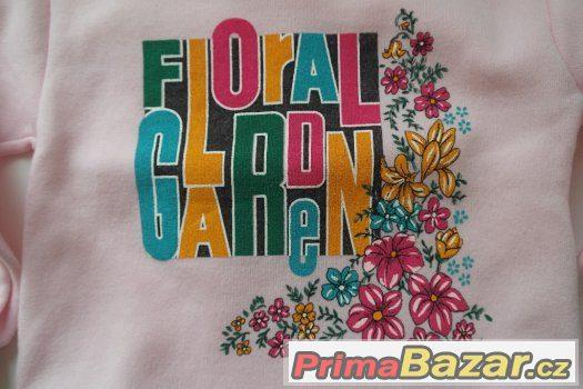 MIKINA RŮŽOVÁ FLORAL GARDEN - 2-3 ROKY, VEL. 98