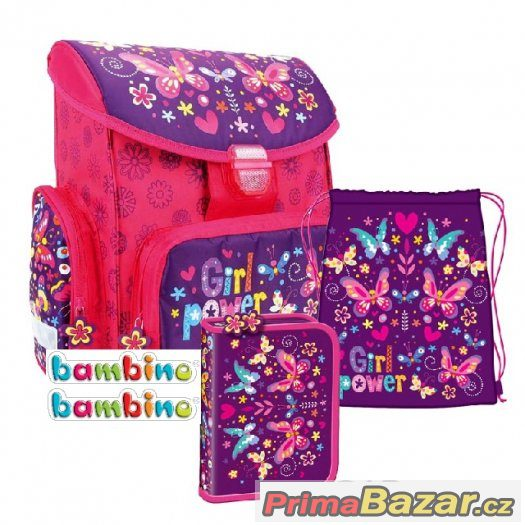 AKTOVKA BATOH set 3v1 BAMBINO FLOWERS