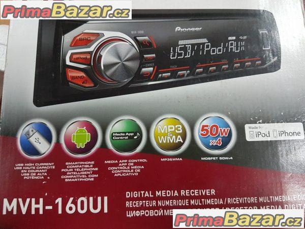 nove autoradio Pioneer MVH 160UI USB