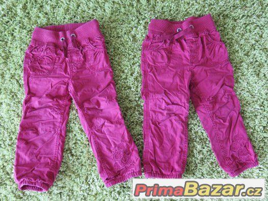 jarní kalhoty pro dvojčátka