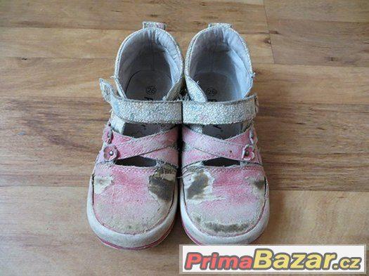 dívčí střevíčky - sandálky na donošení zdarma vel. 26 Peddy