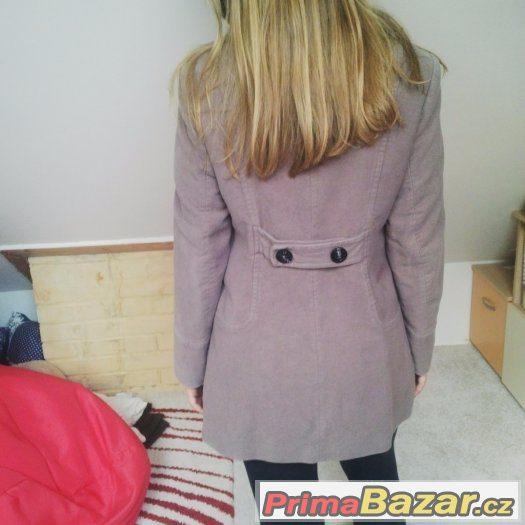 Fialkový bavlněný kabát zn. Promod