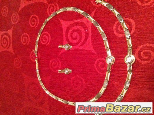 Dámský zlatý náhrdelník-sada 14k 5a99cb2226