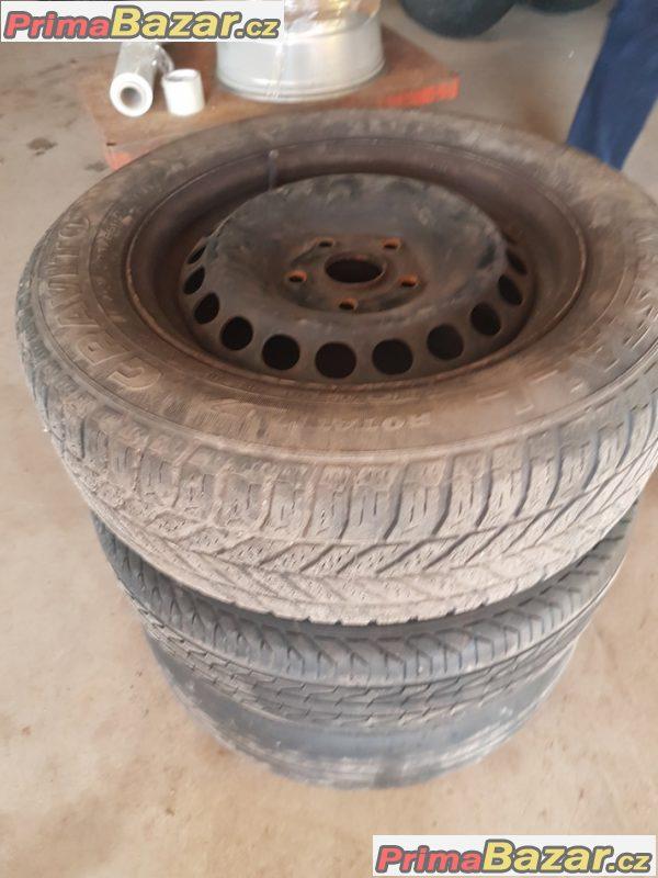 3xplechovy disk s pneu na dojeti vymenu škoda VW 1K0601027C 5x112 6jx15 et47