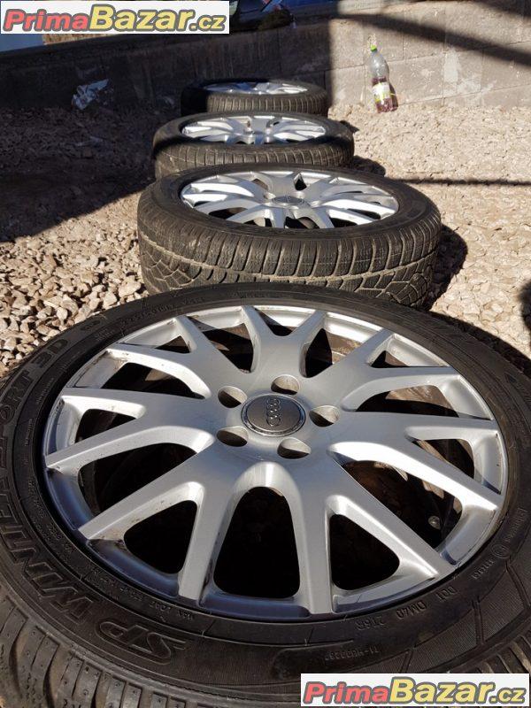 sada alu kola Audi se zánovníma pneu 8J0601025G 5x112 7jx17 et47