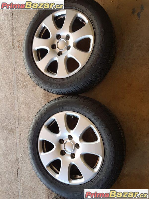 sada alu kola Audi 4L0 s pneu 5x130 7.5jx18 et53