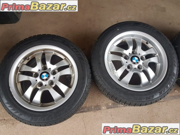 sada alu kola Bmw 6775593 s pneu Bridgestone 5x120 7jx16 is34