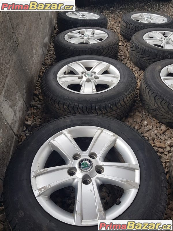 2x sada Škoda Octavia 2 cevher 1Z0601025s 5x112 6.5jx15 et50