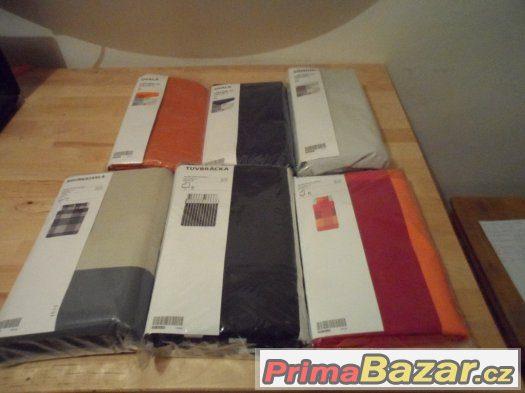Ikea -Povlečeni, polštáře, elastické prostěradla, ubrousky.