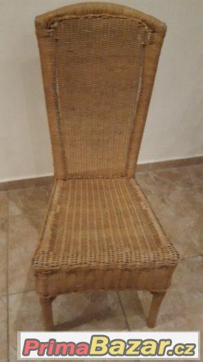Ratanový nábytek - stůl + židle