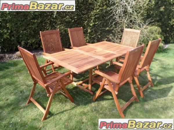 Eukalyptová sestava stůl a židle