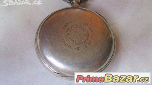 Starozitne svycarske panske kapesne hodinky ROSKOPF Patent P 6e3c586eb4c