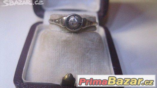 07722ffe8 diamantovy-zlaty-prsten-1930-artdeco-prvni-republika-soliter
