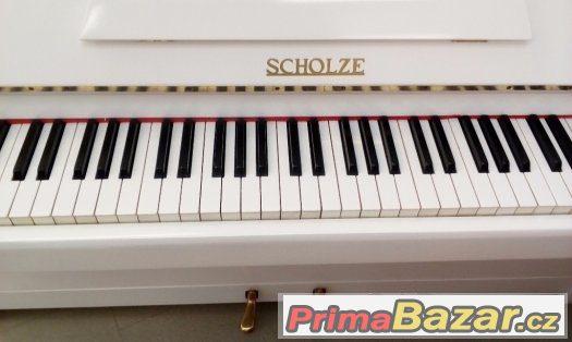 Prodam bílé pianino Scholze včetně dovozu 100 km zdarma