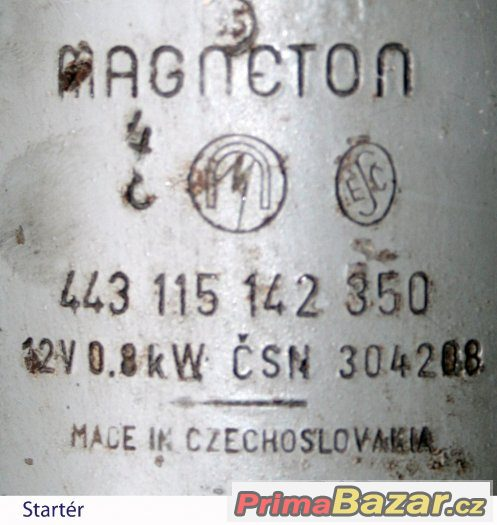 Škoda Startér + Alternátor MAGNETON