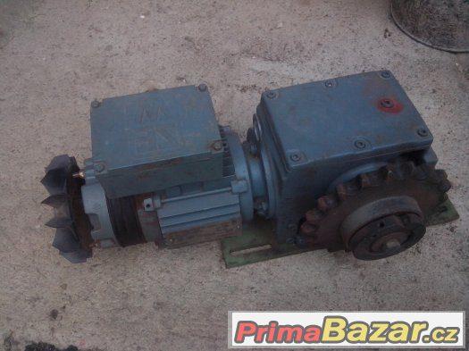 Elektromor s brzdou a převodovkou