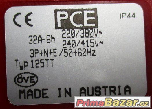 Třífázová zásuvka - 5 pólová, 32A / 400V, krytí IP 44, TT