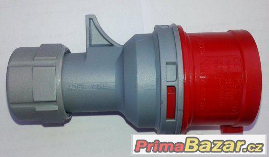 Třífázová vidlice - 5 pólová, 16A / 400V, krytí IP 44, TT