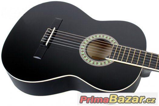 Prodám novou klasickou černou kytaru 4/4 nebo 3/4