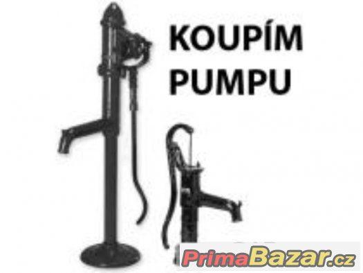Koupím starou zahradní pumpu - dekoraci na zahradu