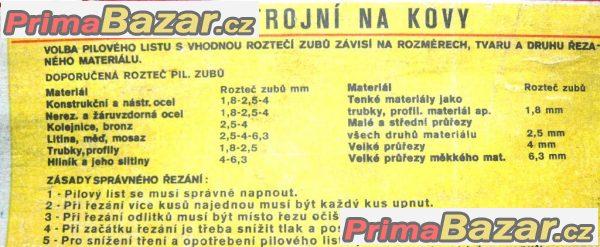 PILOVÝ LIST STROJNÍ NA KOV 600x50x2,5- 4  RAPID EXTRA Pilana