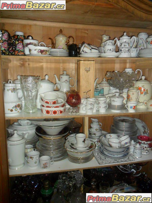 Prodám různý porcelán,sklo, nádobí z dědictví.