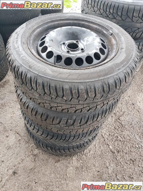 plechove disky plechy 4x100 dot2315 s pneu uniroyal