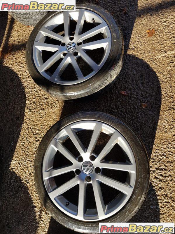 sada Volkswagen šedý lak 5x112 7.5jx18 et45
