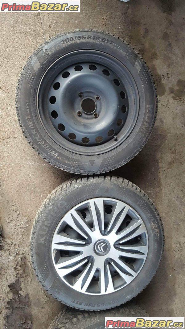 zanovni pneu plechove disky peugeot citroen 4x108 6jx16 et26