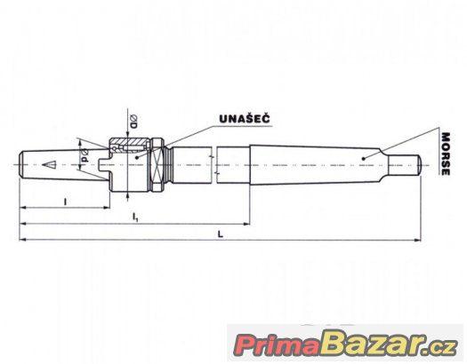 Držák 19/M3, M4 nástrčných výhrubníků a výstruž., ČSN 241210
