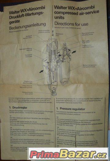 Ventil pneumatický WALTER WXD 1214 (NOVÝ) SWITZERLAND