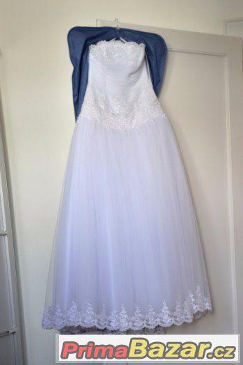 prodám sv. šaty, tylová balonová sukně, výšivka s perličkami