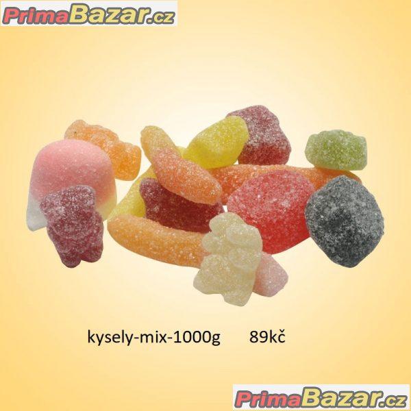 prodam 1kg cukrovinky bonbonky kyselý mix spou