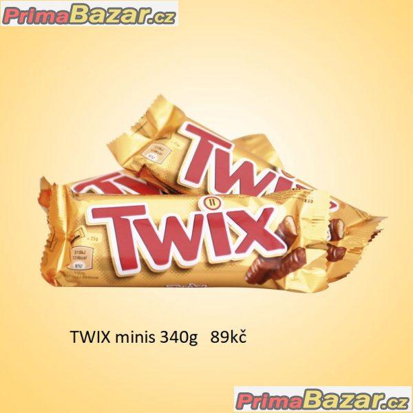prodám tyčinky Twix Minis 340g cukrovinky spou