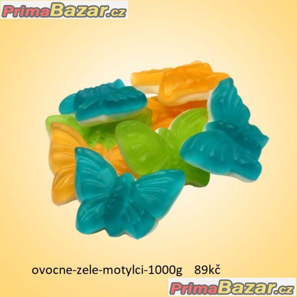prodam 1kg želé žabky dvouvrstvé bonbony spousta